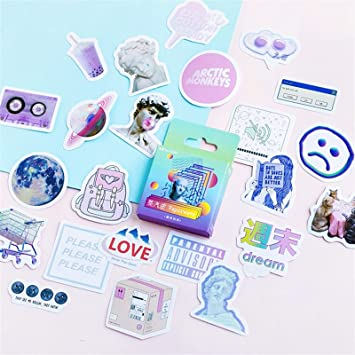 Funny Sticker Notebook Sticker Decoration Box Stationery School And Office 6T