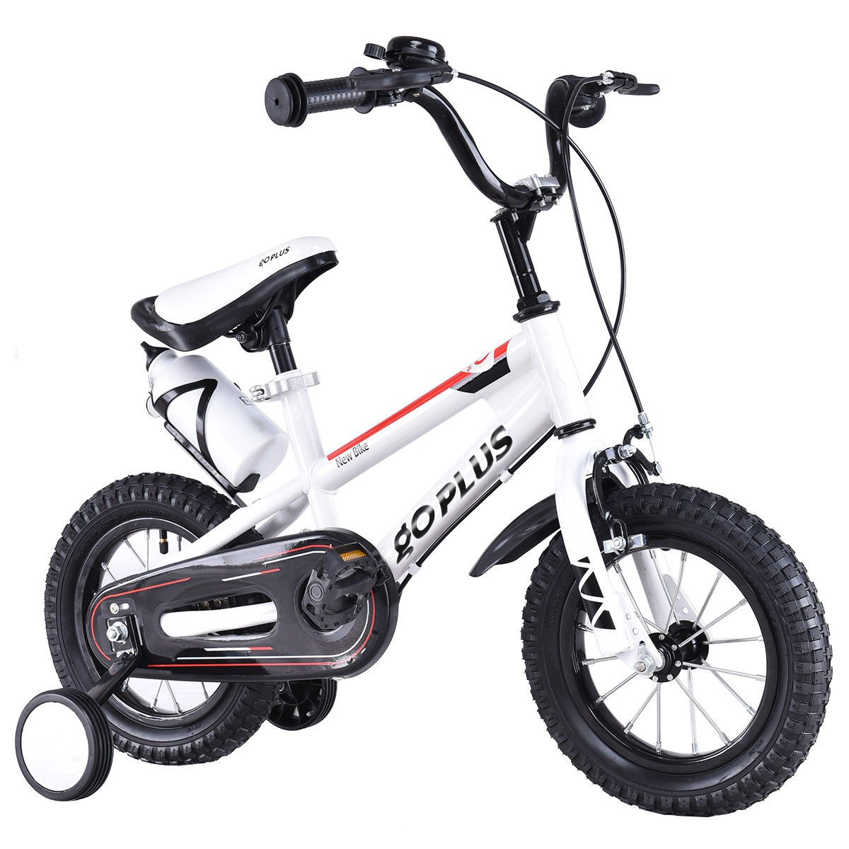 Goplus BMX Freestyle Kids Bike Boy's and Girl's Bicycle with Training Wheels Perfect Gift for Kids, 16'' (White)