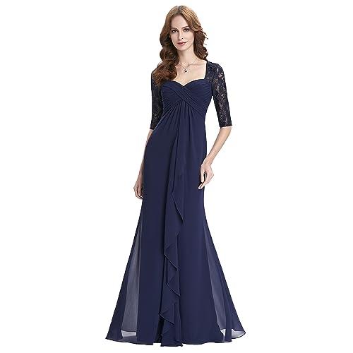 Sweetheart Neck Chiffon Prom Dress with Lace Bridesmaid Dress Size 16 KK0136-1