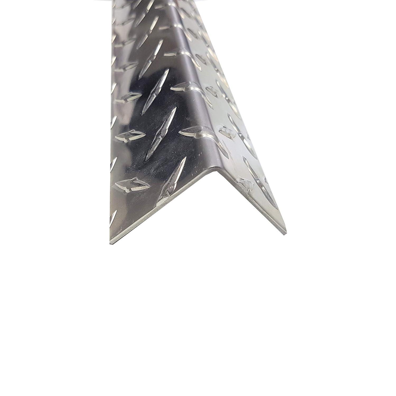 1500mm x 45x45mm in 1,5//2mm Materialst/ärke Material: AlMg3 Oberfl/ächenoptik: Duett geriffelt 1,5 Meter langer Aluminium Kantenschutz Winkel Schenkell/änge Innenma/ß 4,5x4,5 cm