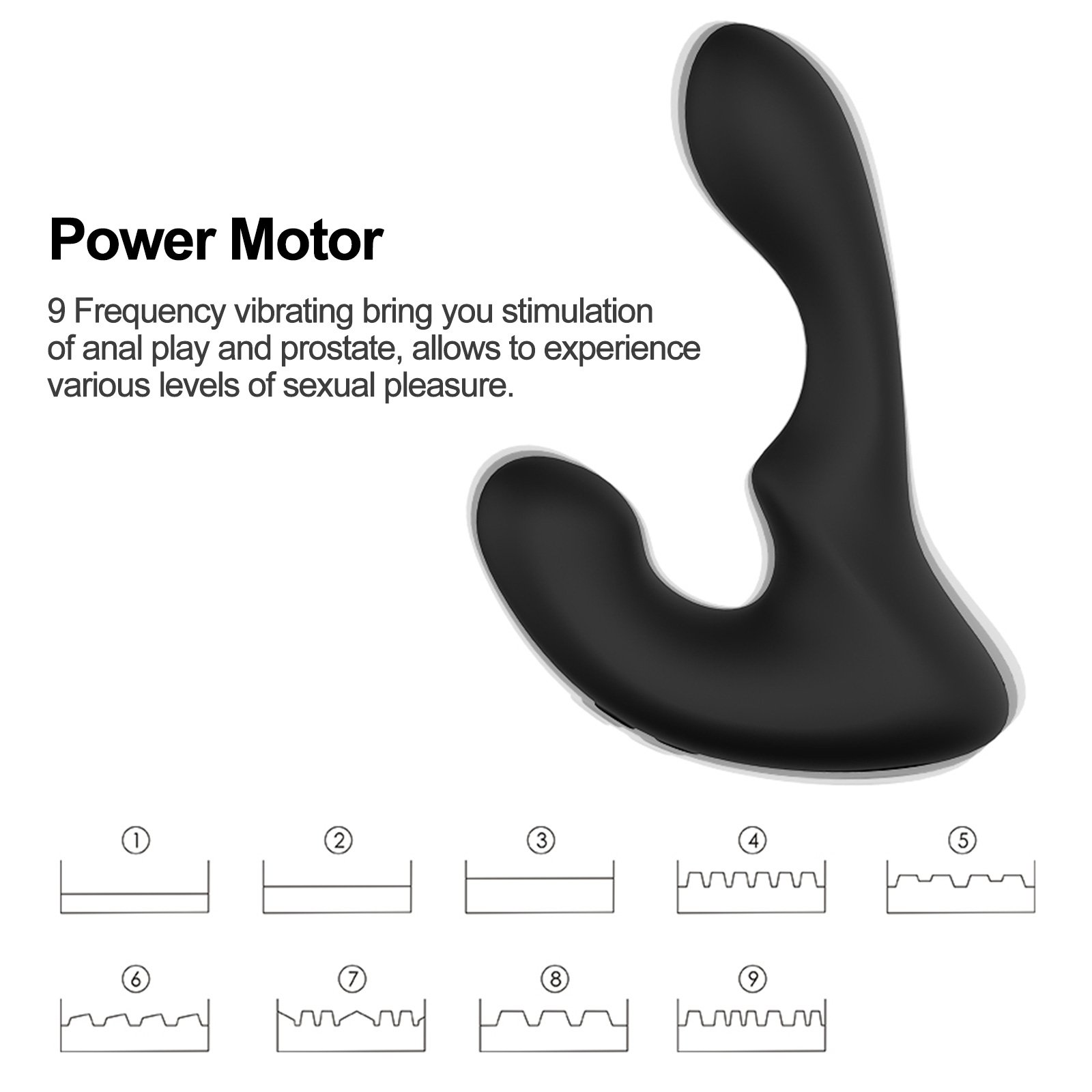 Tracy\'s Dog Vibrating Prostate Massager with 9 Stimulation Patterns Anal Plug Vibrator for Male Orgasms