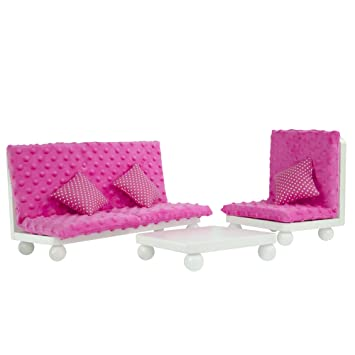 Amazon.com: Olivia\'s Little World - Princess Living Room Lounge Set ...
