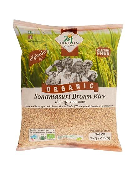 24 Mantra Organic Sonamasuri Brown Rice, 1kg