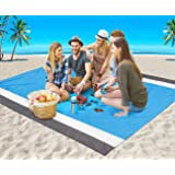 Beach Blanket, Beach Mat Outdoor Picnic Blanket Large Sand Free Compact for 4-7 Persons Water Proof And Quick Drying Beach Ma