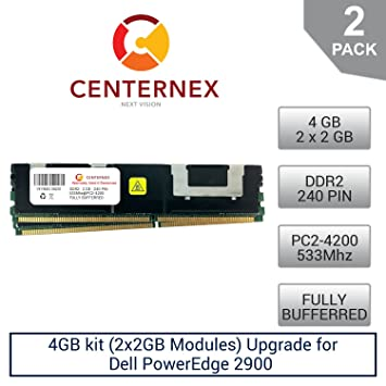 RAM Memory Upgrade for Dell Poweredge 2900 2x2GB 4GB Kit