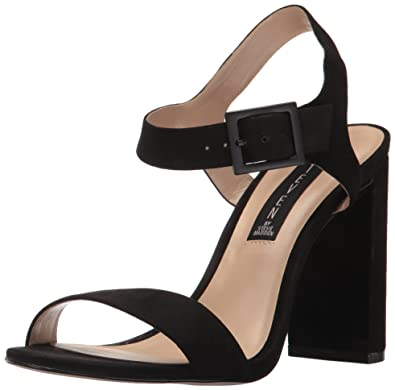 e5a14aab676 STEVEN by Steve Madden Women s Eisla Dress Sandal Black Nubuck 5.5 ...
