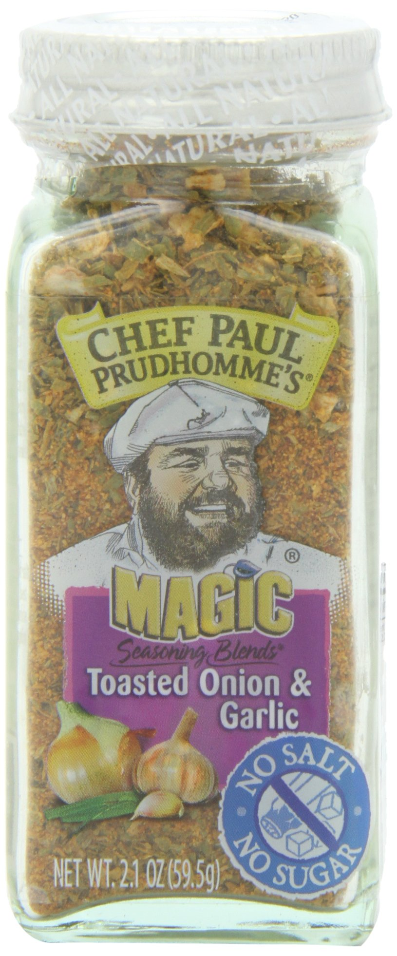 Chef Paul Prudhomme's Magic Seasoning Blends No Salt, Toasted Onion and Garlic, 2.1-Ounce