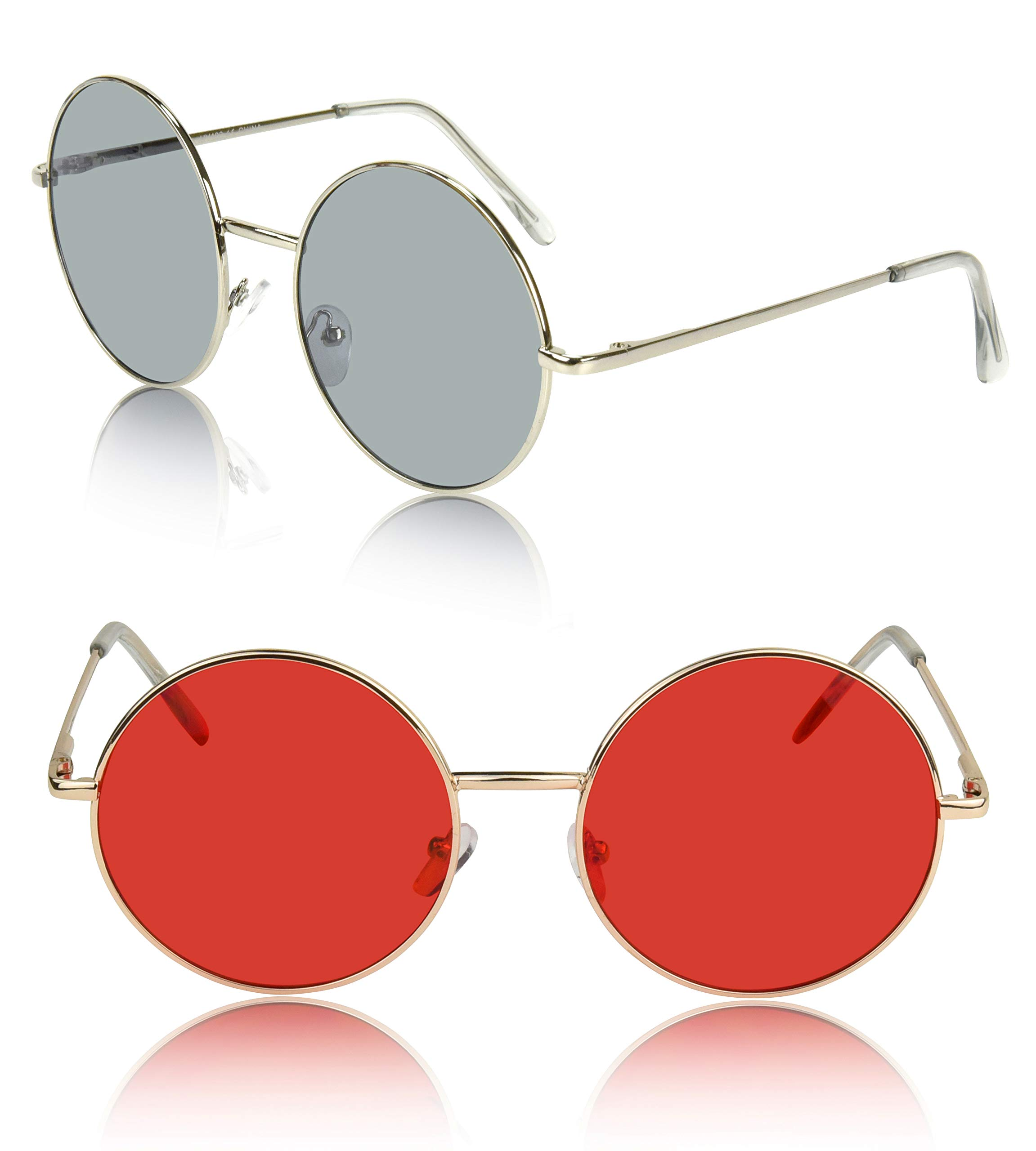 Festival Sunglasses For Women 90's 50's 70's Glasses Clothing Clothes Party Red by SunnyPro