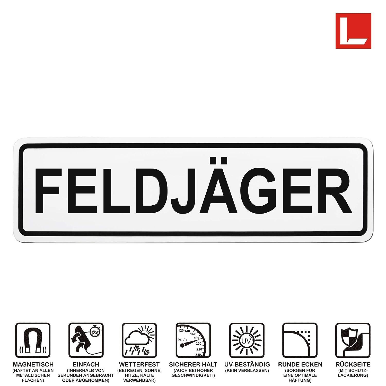 mehrere Gr/ö/ßen Lohofol Magnetschild FELDJ/ÄGER 35 x 10 cm Schild magnetisch