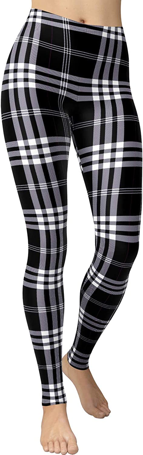 VIV Collection Women's Popular Brushed Buttery Soft High Waist Printed Fashion Leggings LIST1