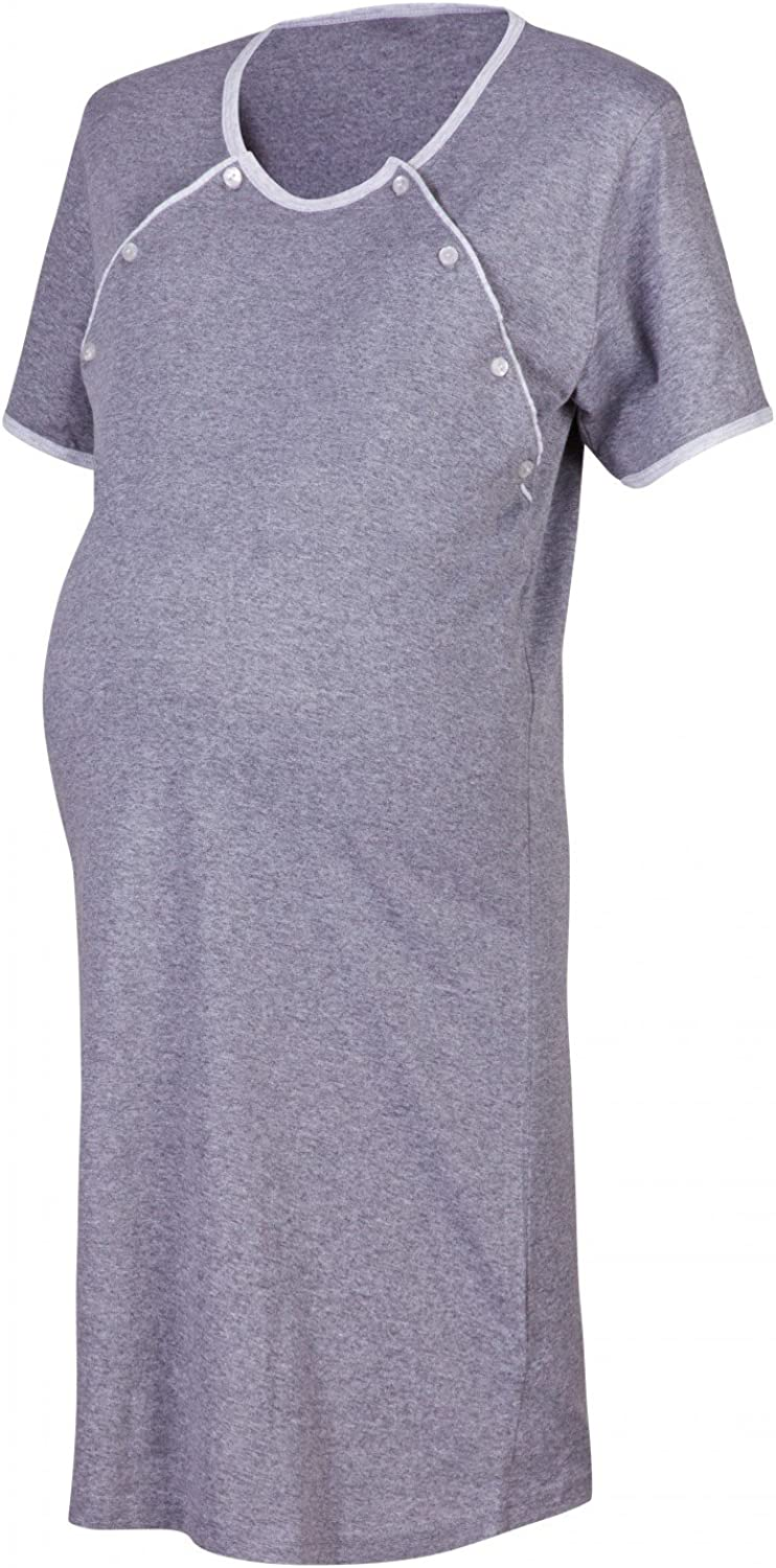 Sold Separately 393p Nightdress - Graphite, UK 10//12, M Happy Mama Maternity Gown Robe Nightie for Labour /& Birth