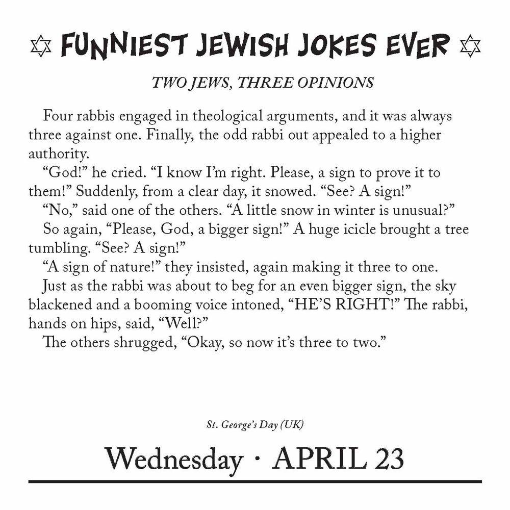 Funniest Jewish Jokes 2014 Day-to-Day Calendar
