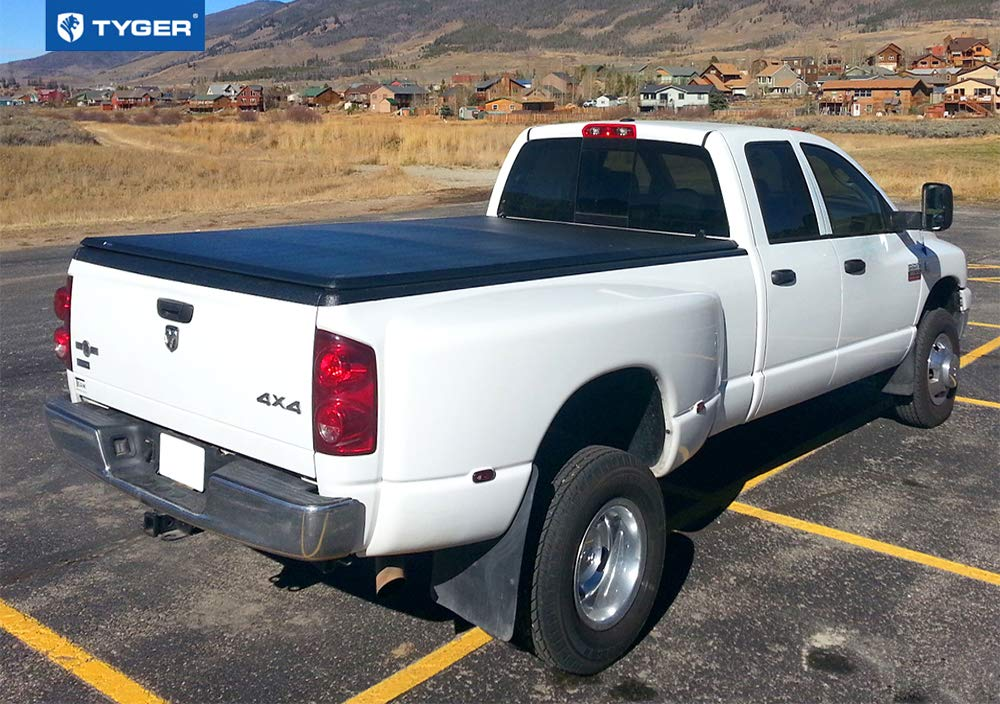 Tyger Auto T3 Tri-Fold Truck Tonneau Cover TG-BC3D1012 Works with 2002-2019 1500 Fleetside 8 Bed 2019 Classic ONLY Without Ram Box 2003-2018 Dodge 2500 3500
