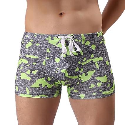 Bikini bandeau Camo Pantalones de natación, YanHoo® Pantalones cortos de traje de baño transpirable