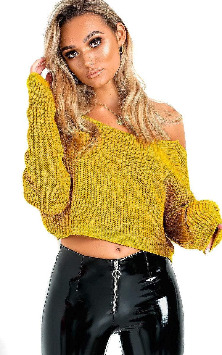 IKRUSH Womens Jennah Plunge Back Knitted Jumper