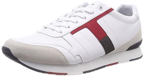 Tommy Hilfiger Corporate Leather Mix Sneaker, Zapatillas para Hombre: Amazon.es: Zapatos y complementos