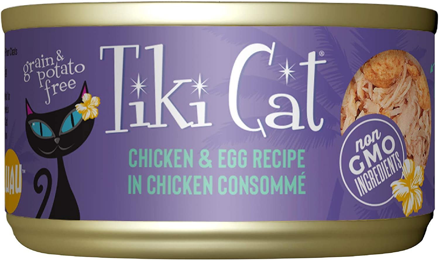 TIKI PETS Tiki Cat Luau Wet Food with Poultry or Fish in Consomme for Adult Cats & Kittens, Grain and Potato Free