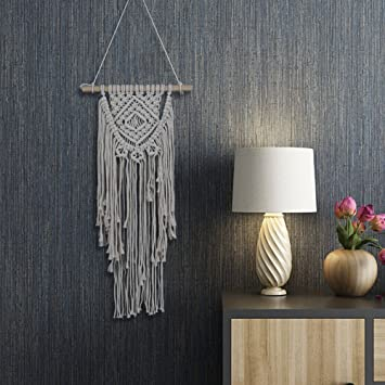 Amazon.com: Ethnic Macrame Wall Hanging Woven Tapestry Cotton Wall ...