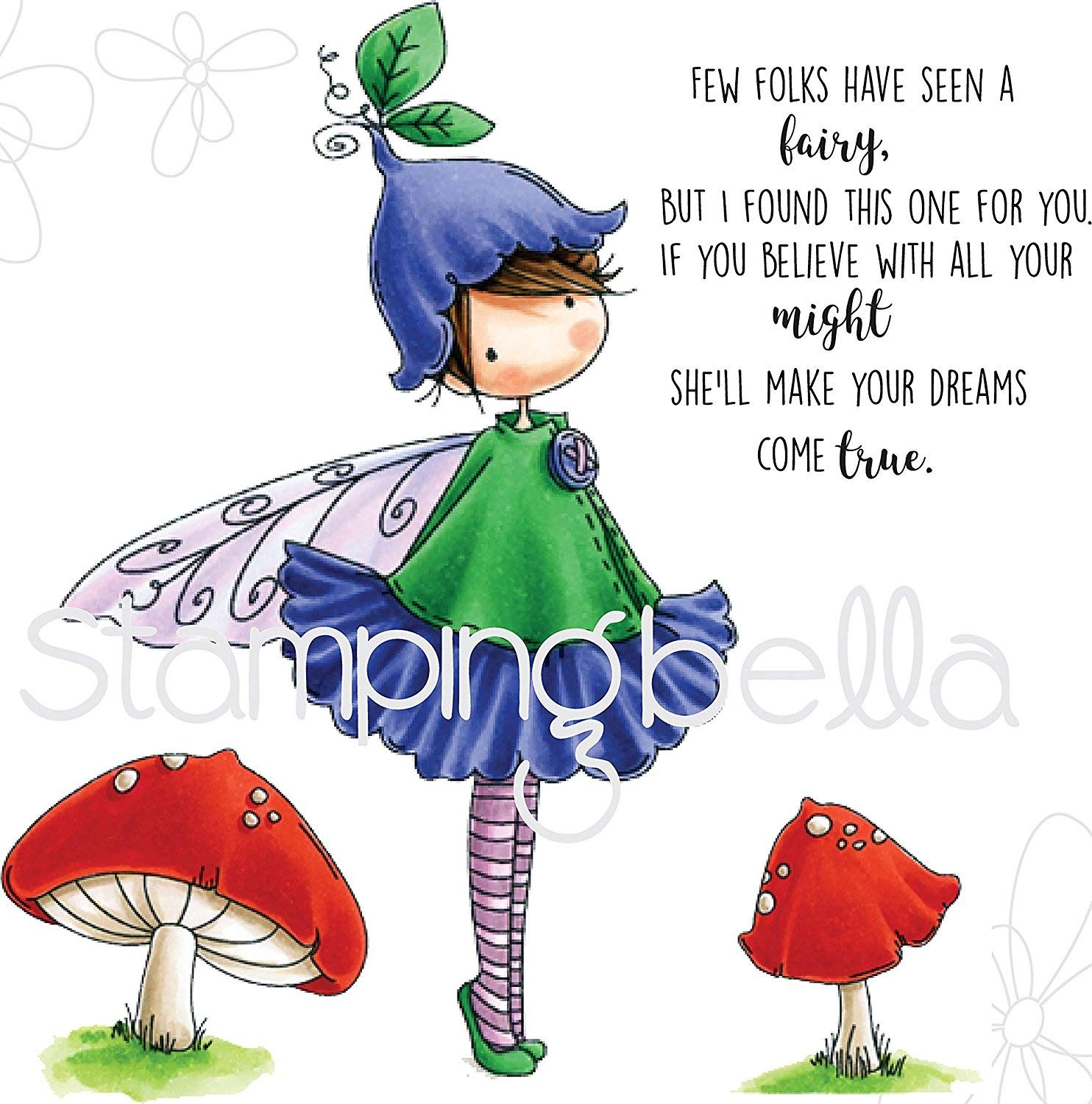 Stamping Bella EB531 Cling Stamps Garden Fairy