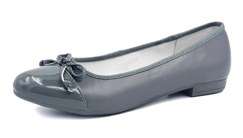 Knixmax Ballerine Femme Mocassins Gris Femme Cuir Chaussures 16874 Mocassins Habillées Chaussures Plates Gris 1daa7fd - boatplans.space
