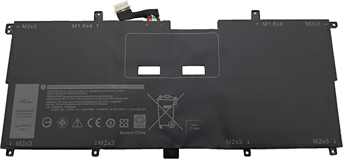 Tinkerpal NNF1C HMPFH 7.6V 46Wh Replacement Laptop Battery for Compatible Dell XPS 13 9365 XPS 13-9365-D1605TS XPS 13-9365-D1805TS Series - 12-Month Warranty