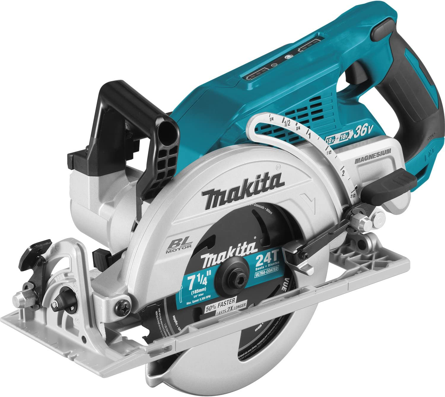 Makita XSR01Z 18V X2 LXT Lithium-Ion 36V Brushless Cordless Rear Handle 7-1 4 Circular Saw, Tool Only