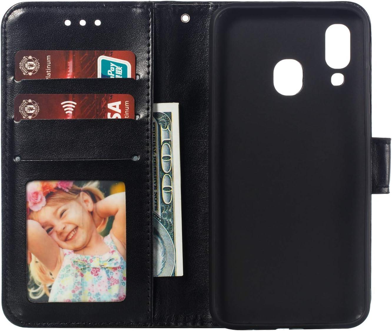 dise/ño de Flor de Ciruela Funda de Piel con Tapa para Samsung Galaxy A40 Ehwintop
