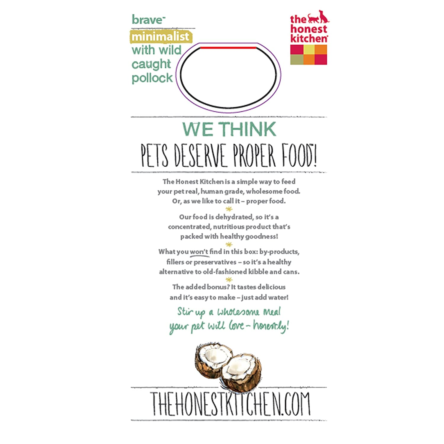 the honest kitchen brave grain free dog food dehydrated