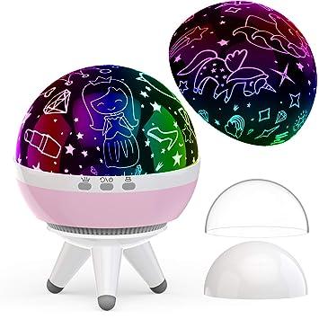 7 farbwechsel kleine prinzessin led nachtlicht kinder spielzeug licht geschenke