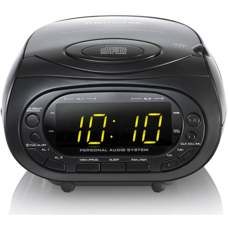 amazon com memorex cd top loading dual alarm clock am fm stereo rh amazon com Memorex CD Clock Radio Memorex Clock Radio CD Player
