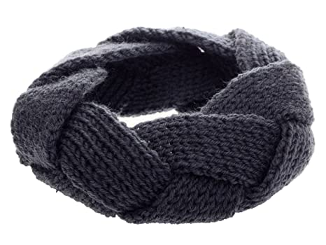 Fletion Elegante fascia per capelli in maglia attorcigliata 56d5fe7188a5