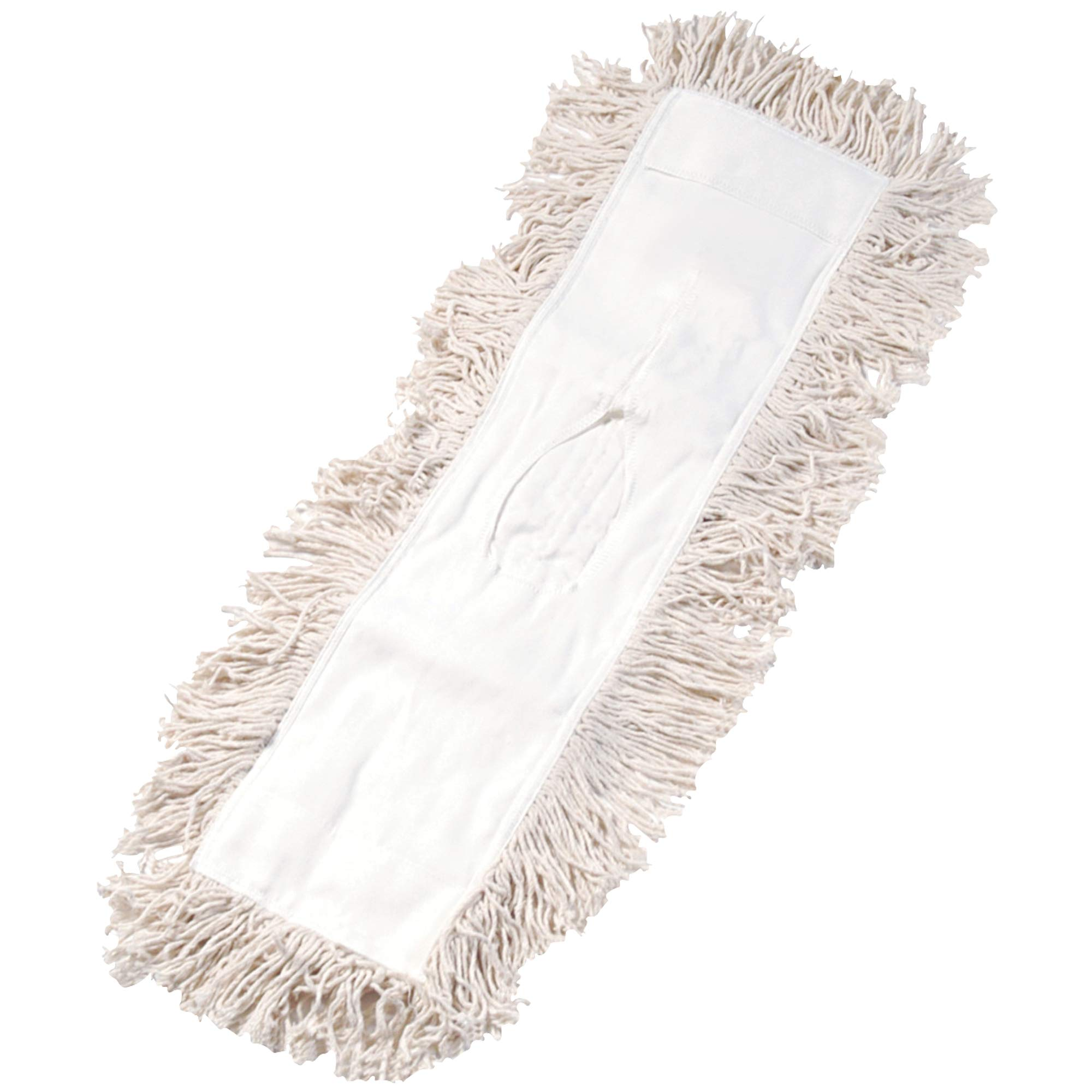 Economy Cut-End Dust Mop Head, 24'', White, 1/Each by Top Pack Supply