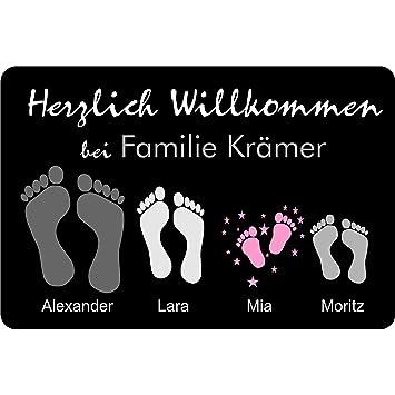 40x60 Cm Individuelle Fußmatte Mit Namen Froschönig Geschenkidee Geburtstag