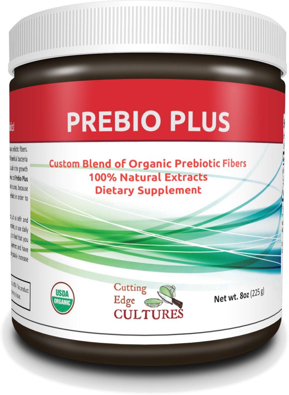 Cutting Edge Cultures Prebio Plus Prebiotic Fiber Powder BEST Custom Blend of Organic Prebiotic Fibers Dietary Supplement 8 oz by Cutting Edge Cultures