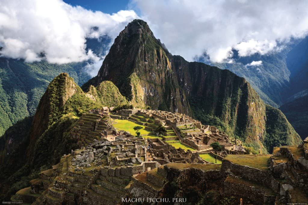 Pyramid America Machu Picchu Peru Photo Cool Wall Decor Art Print Poster 36x24
