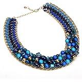 Jerollin Moderno joyas mujer cuello maduro Collar Necklace Cadena Beads y collar de perlas gargantilla Statement Cadenas colgante Traje Tradicional joyas