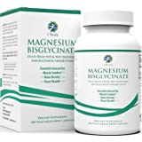 Magnesium Bisglycinate | Reduce Muscle Cramps & Improve Sleep | Maximum Absorption with no Laxative Effects | 100% Chelated with TRAACS | 200 mg of Pure Magnesium Per Vegetarian Capsule