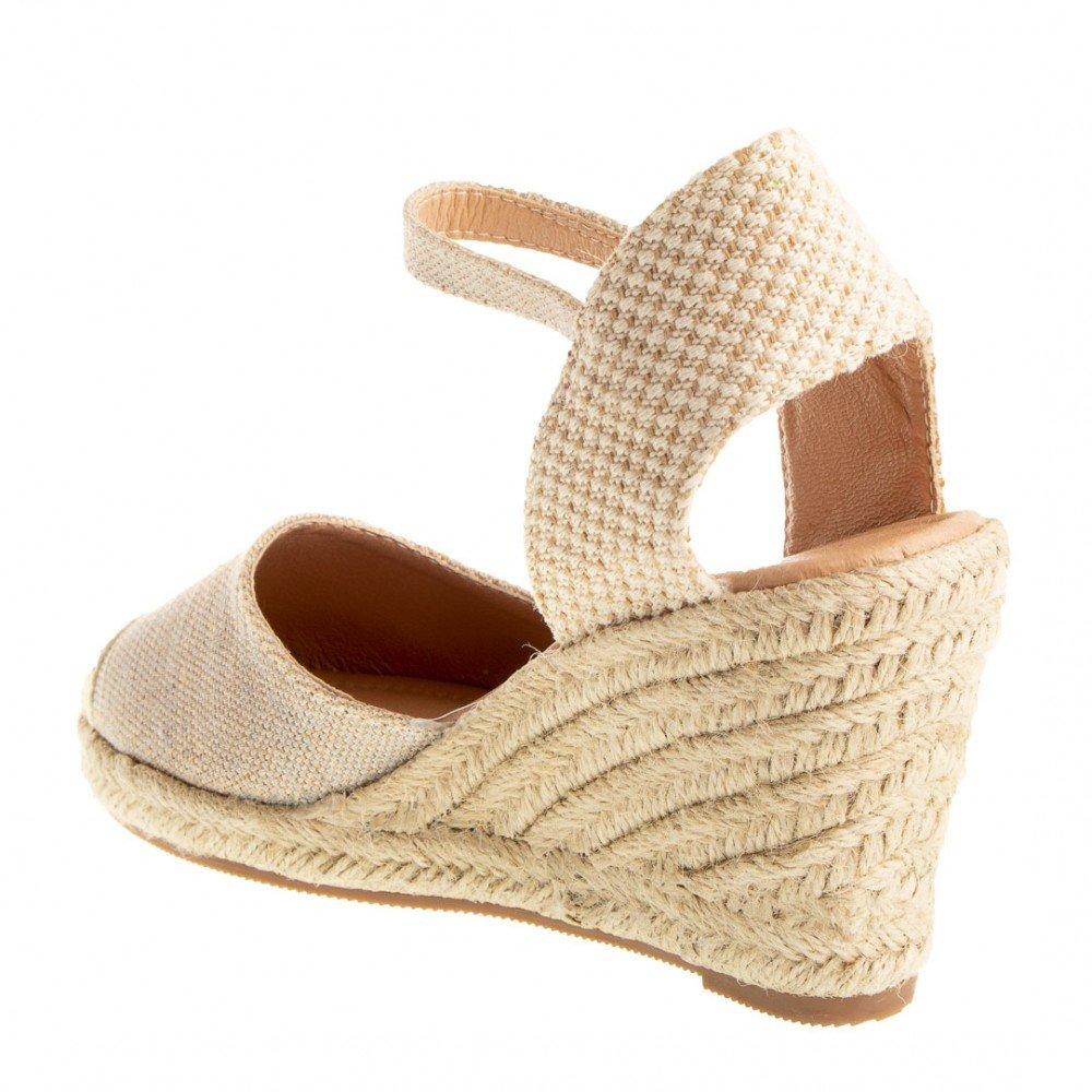 381de7b7cd62f0 Espadrilles à Talon compensé Corde et Bride Cheville pailletée Femme-:  Amazon.fr: Chaussures et Sacs