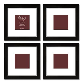 Amazoncom Craig Frames 1wb3bk 9 By 9 Inch Black Picture Frame