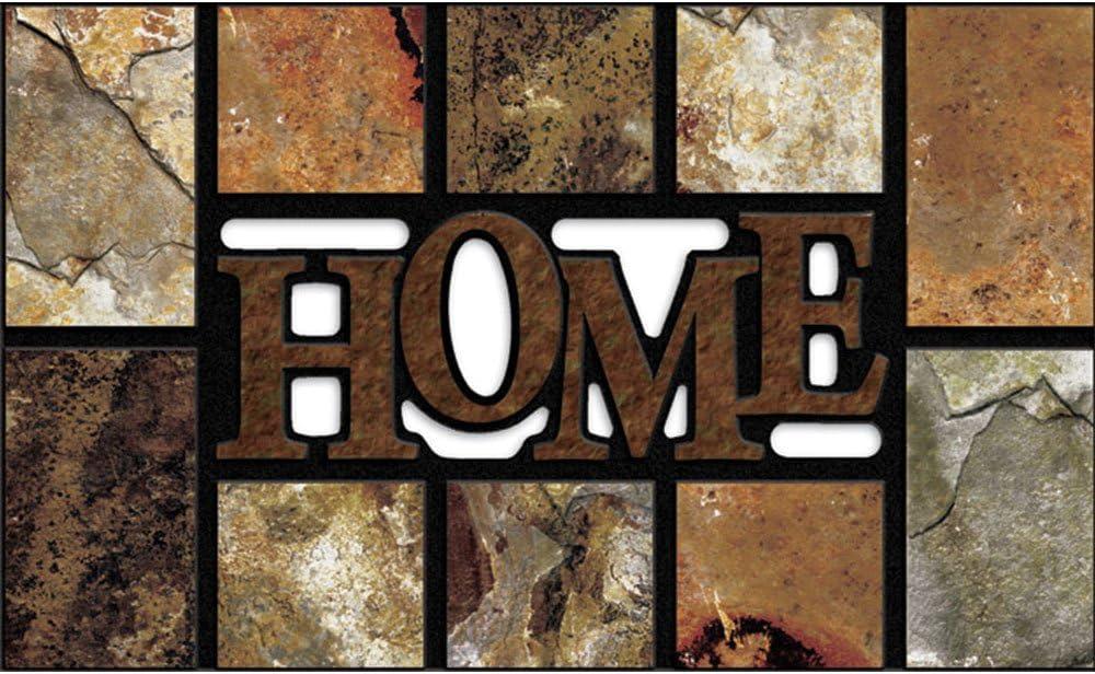 Apache Mills 60-778-5206 Masterpiece Door Mat, 18-Inch X 30-Inch, Home Slate Brown