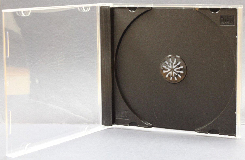 AcePlus 10 pieces CD Jewel Case Black Single with bonus 50 pc Color Paper Sleeve