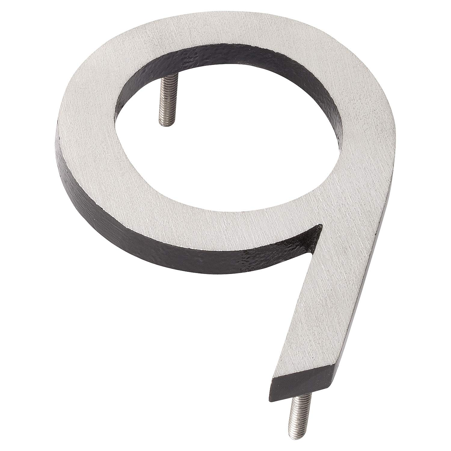 Montague Metal Products MHN-10-9-F-BK2 Floating House Number, 10 inches x 7.25 inches x 0.375 inches Black Two Tone