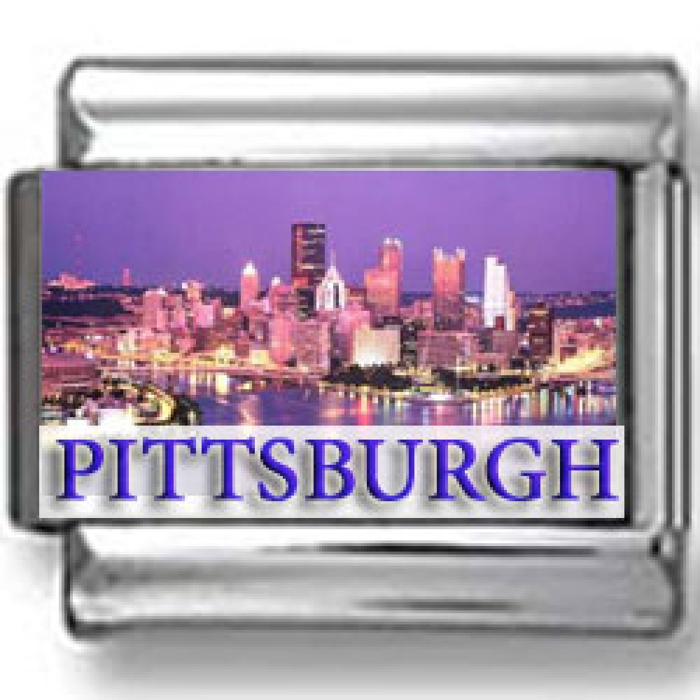 Pittsburgh at Night Landmark Photo Italian Charm