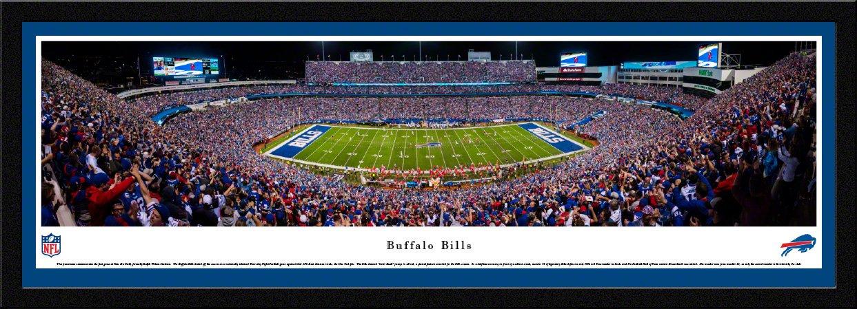 Buffalo Bills - 50 Yard - Night - Blakeway Panoramas NFL Posters with Select Frame by Blakeway Worldwide Panoramas, Inc.