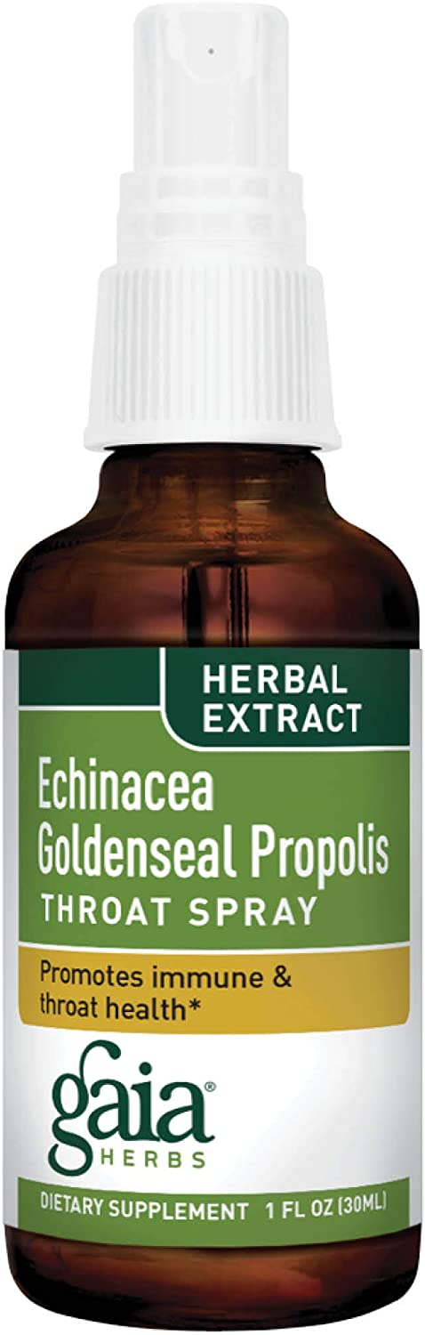 Gaia Herbs Echinacea Goldenseal Propolis Throat Spray, 1 Ounce Pack of 2 – Supports Healthy Immune Response