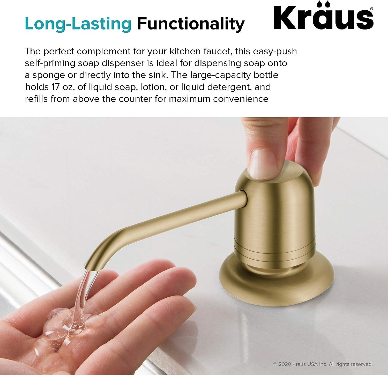 kraus ksd 32bg kitchen soap and lotion dispenser brushed gold