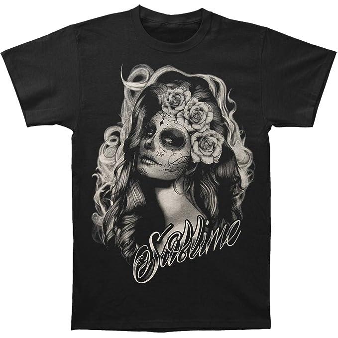 8e2e3ff9380 Sublime Men s Sugar Skull Princess Slim-Fit T-Shirt Black