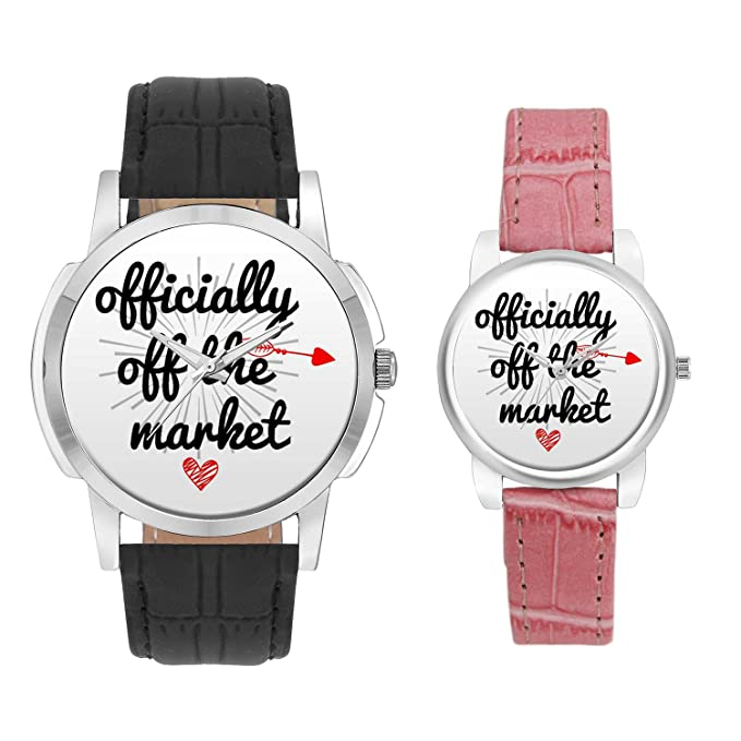 Gifts for Couple, Multicolor Dial Wrist Watch for Men and Women