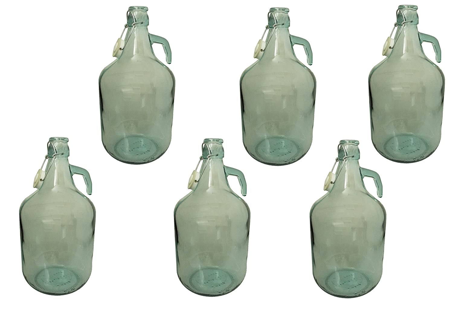 5L Demijohn for wine making/storage with swing top cap,(pack of 6)NEXT WORKING DAY DELIVERY(MAINLAND UK) E-BEST-OFFER