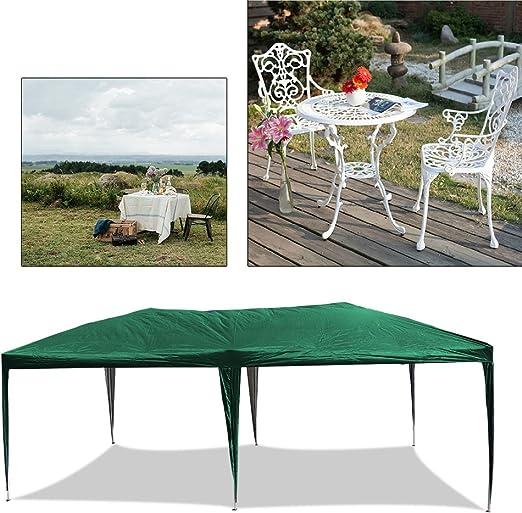 HG® - Carpa de lona para jardín, plegable e impermeable, de 3 x 6 m, costuras selladas de PVC, verde: Amazon.es: Jardín